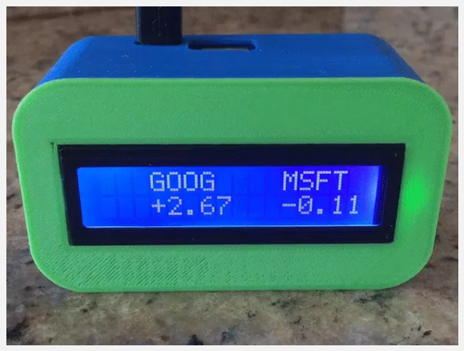 16×2 LCD Screen Expansion With 3D-Printed Case