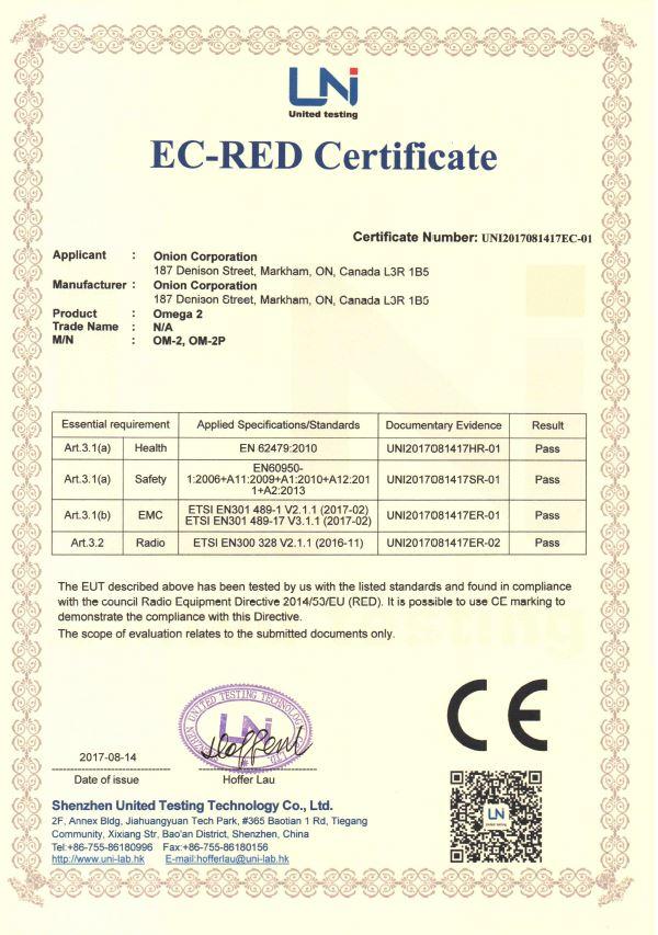 Certification – Onion