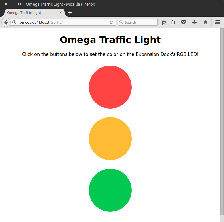 Expansion Dock Traffic Light App