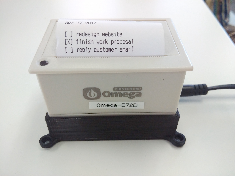Web-Based Omega-Powered Thermal Printer