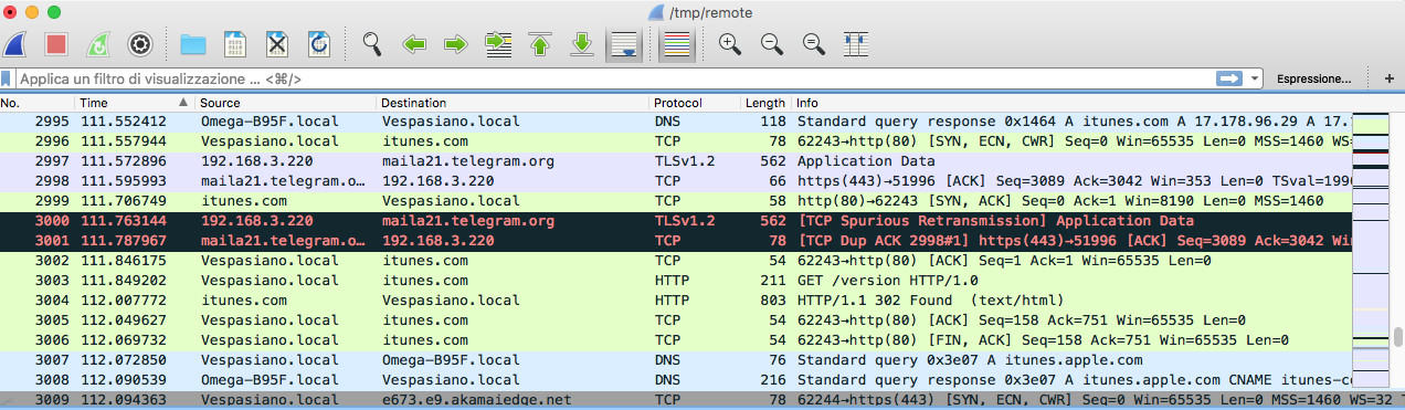 WireShark WiFi Sniffer
