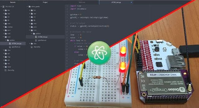 2-Bullet Tuesday: Atom Code Editor On The Omega2 & Push-Button Omega Control