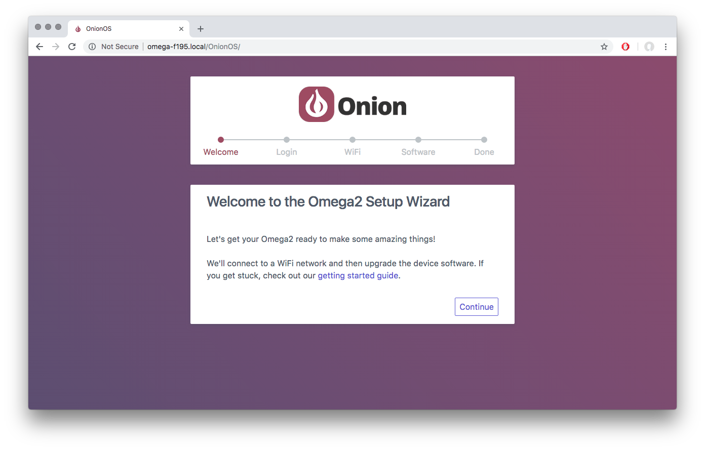 Getting Started With OnionOS