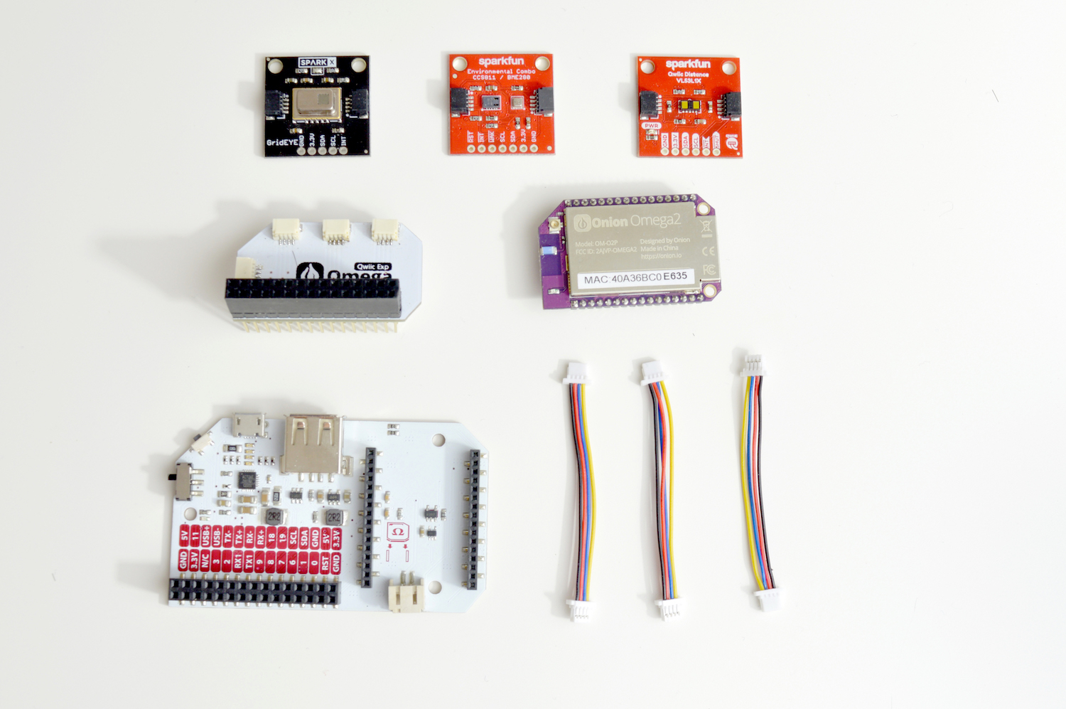 SparkFun Qwiic Starter Kit For Onion Omega Quickstart
